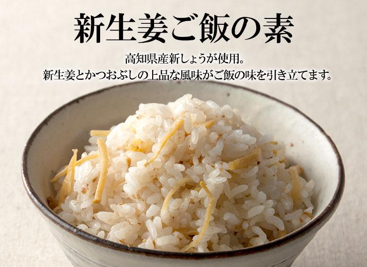 新生姜ご飯の素