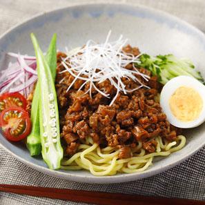 野菜たっぷりジャージャー麺風サラダ麺