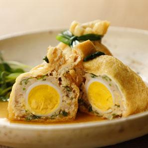 うずらの卵入り巾着煮