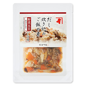 だし炊き込みご飯の素 野菜五目 (野菜だし風味) 2合用