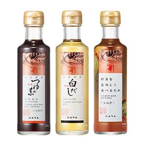 NIHONBASHI つゆの素・調味料 3本セット